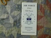 1964 Air Force Falcons Football Media Guide Yearbook Cross Country Soccer Ad