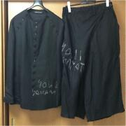 Yohji Yamamoto Pour Homme Men's Shirt Jacket And Wide Pants Set Rare From Japan