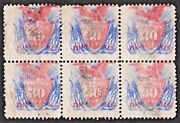 Us Sc 121 Used { Rare Block Of 6 } Beauty Multiple 30c Pictorial Cv 5625.00