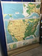 Denoyer-geppert 1964 Simplified Map Of United States S1crx Free Shipping-