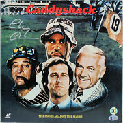 Chevy Chase Caddyshack Signed Caddyshack Laser Disc Cover W/disc Bas M54603