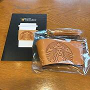 Starbucks Leather Sleeve New Collectible Coffee Cup Accessory Brand Usa Rare F/s