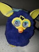 2012 Furby Starry Night Blue And Yellow Inter-active Animal Toy Hasbro Talking