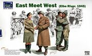 Riich 1/35 Rv-35014 Wwii Us And Soviet East Meet West Elbe River 1945 4 Figs