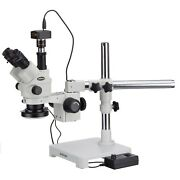 3.5x-180x Simul-focal Stereo Lockable Zoom Microscope + 144-led Ring Light + 5mp