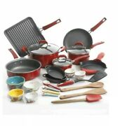 The Pioneer Woman 30 Pc Vintage Speckle 30-piece Cookware Combo Set Red