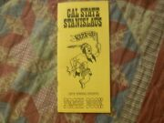 1973 Cal State Stanislaus Baseball Media Guide Yearbook Golf Tennis Track Ad