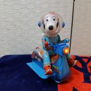 Masudaya Tin Toy Snoopy Space Scooter Peanuts 60's Vintage Made In Japan Rare