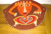 Vintage L Chaves Art Pottery Abstract Large Centerpiece Bowl Southwestern Nm
