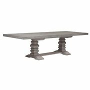 Prospect Hill Wood Pedestal Dining Table With Two Leaves In Gray