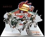 Attack On Titan Collectible Quo Card Japan Acrylic Diorama Stand Set 2 F/s Comic