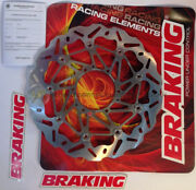 Honda-hm Cr E Supermotard 125 From 2000 To 2008 Front Brake Disc Rotor Wave Ø320