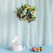 24-inch Tall Mercury Glass Trumpet Centerpiece Vases Wedding Party Decorations