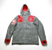 Hudson Menand039s Expedition Parka 5507-red Reflective Silver/red Msrp 378