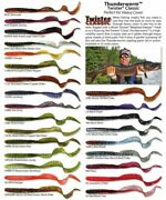 Mr. Twister Classic Thunderworm Twelve 10 Packs 120 Worms Exclusive Colors