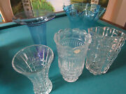 Crystal Vases Balboa Murano Made In Poland Royal Brierley Bleu Flute Pick One