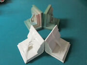 Roseville Usa Bookends White 168 Or Green 80 - Pick One