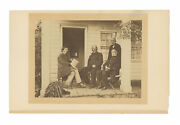 Civil War Albumen Image Of Generals Burnside And Anderson Near West Point Ny