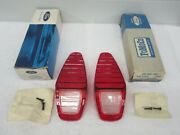 Nos 1967 Comet Cyclone Gt427 Rear Tail Lamp Lens With Attach.2 C7gy-13450-a Dp