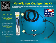 Outrigger Rigging Kit - Pre-rigged 50 Ft Mono Lines -add Clips, Hal-lock Pulleys