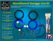Outrigger Rigging Kit - Pre-rigged Four Mono Lines - Add Clips, Hal-lock Pulleys