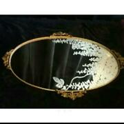 Wall Mirror Antique Rare Collectible Vintage Decor Home Used F/s Japa Art