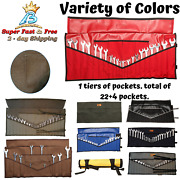 Wrench And Tool Roll Pouch Organizer Dyed Cotton Canvas 30' X 13.5 Inches New