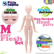 Azone 1/12 Picco Neemo Flection M Flesh Body And Non Flocked Head Parts Doll New