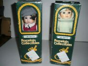 Two 11 Craft Showcase Porcelain Dolls With Tag In Original Box Boy/girl Nice