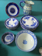 Antique Flow Blue Henry Alcock W.h. Grindley Watteau Staffordshire Pick One