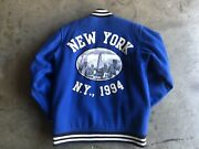 Supreme Empire State Baseball Varsity Jacket Large Blue