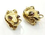 Great Vintage Unique Rare 18k Yellow Gold Asian Chinese Dragon Mens Cufflinks