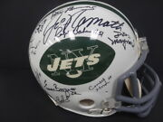 1968/69 Ny Jets Team-signed Full Size Riddell Nfl Helmet Autograph Auto Steiner