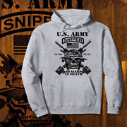 Army Sniper Hoodie Special Forces Ranger Infantry Combat Veteran Sharp Shooter