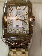 Gevril Womenand039s 9444yb Avenue Of America White Mop Dial Yellow Tone Gold Bracelet