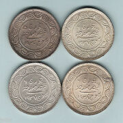 India - Kutch. Silver 5 Kori1930 1937 X2 And 1938.. Unc - Choice Unc 4 Coins