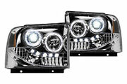 Recon Andeacuteclairage Phares Projecteur Transparent Pour And03905-and03907 Ford Superduty