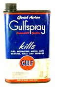 Gulf Oil Company Insecticide Tin Can One U.s. Quart Gulf Refining Co. U.s.a.