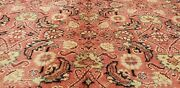 Exquisite Antique 1940-1950and039s Natural Dye Wool Pile High-end Hereke Rug 9x13ft