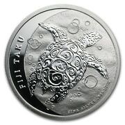New Zealand Mint 1 Fiji Taku 2013 1/2 Oz .999 Silver Coin