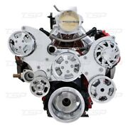 Ls Serpentine Front Drive System With Integral Power Steering Reservoir Chrome