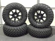 Can Am Outlander 650 27 Street Legal Tire And 14 Hd6 Blk Wheel Kit Can1ca