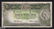 R-34bs. 1961 1 Pound - Coombs/wilson.. Star Note.. Prefix He/89.. Fine