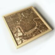 New Orleans Wooden Map - Laser Cut Streets City Maps 3d Framed Wall Art Wood