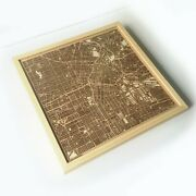 Los Angeles Wooden Map - Laser Cut Streets City Maps 3d Framed Wall Art Wood