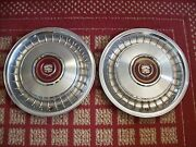 1985-1986 Cadillac Fleetwood And 1982-1984 Seville  Pair Of Two 15 Oem Hubcaps