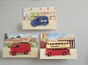 Toybox Classics Dinky Meccano Greeting Display Cards Bus Van Royal Mail England