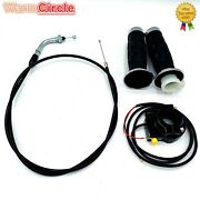 Handlebar Grip Kill Switch Throttle Cable For 49, 66cc 80cc Motorized Bicycle