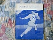 1956 New Hampshire Football Media Guide Yearbook Press Book Program College Ad