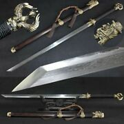 Boutique Copper Phoenix Tang Dao Chinese Sword Clay Tempered Pattern Steel Sharp